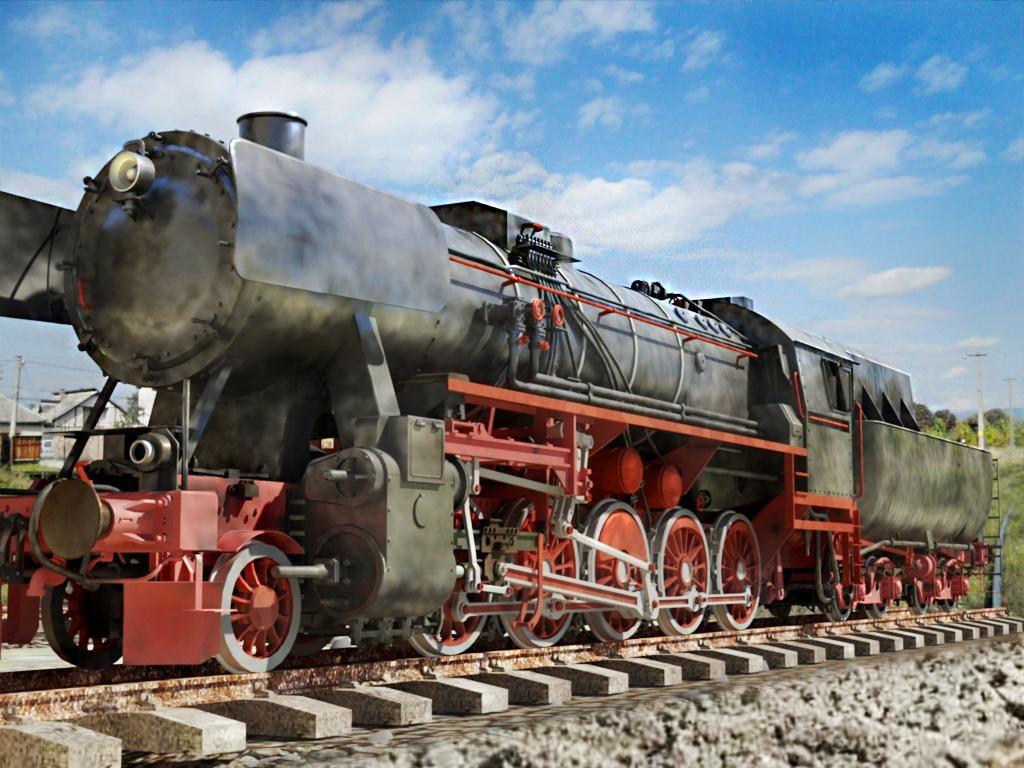 german locomotive br-52 3d x