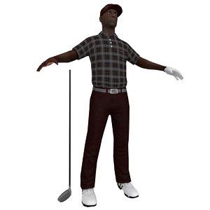 golfer player hat 3d model