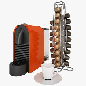 nespresso u coffee 3d model