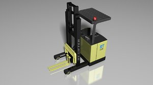 3d industrial reach truck model