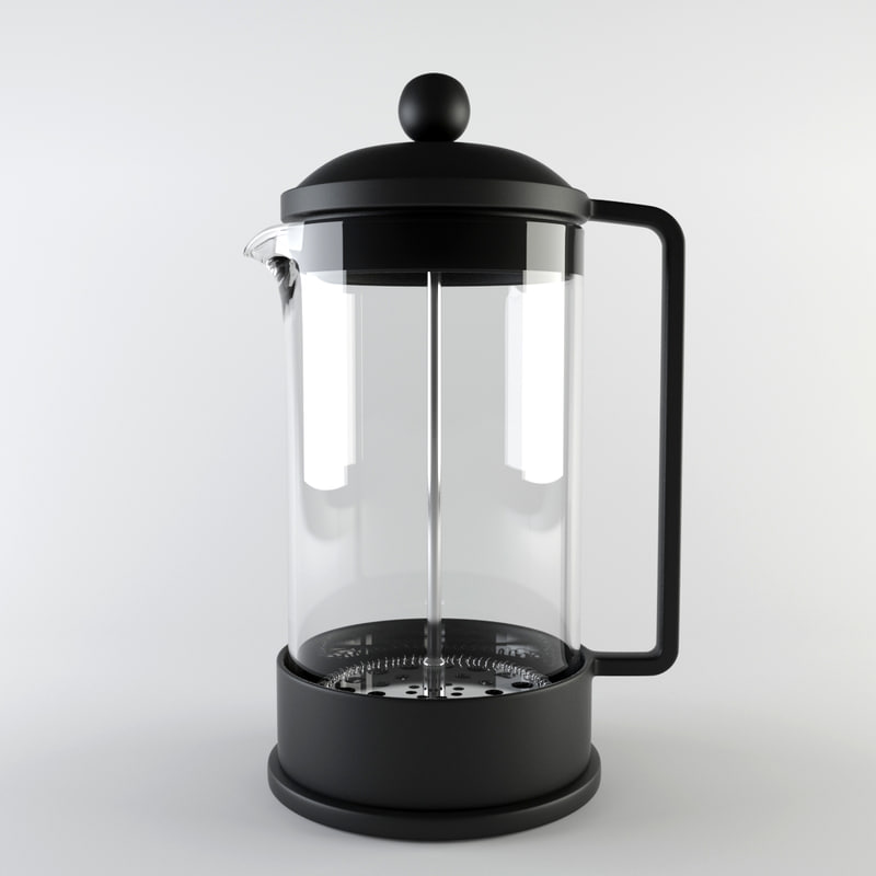 3d french press - model