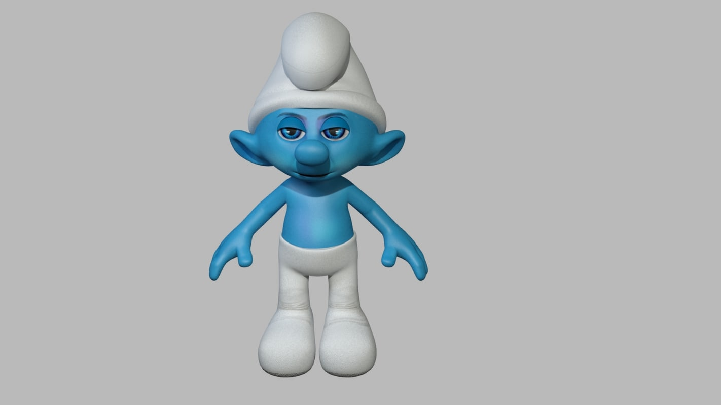 3ds max clumsy - smurfs modeled