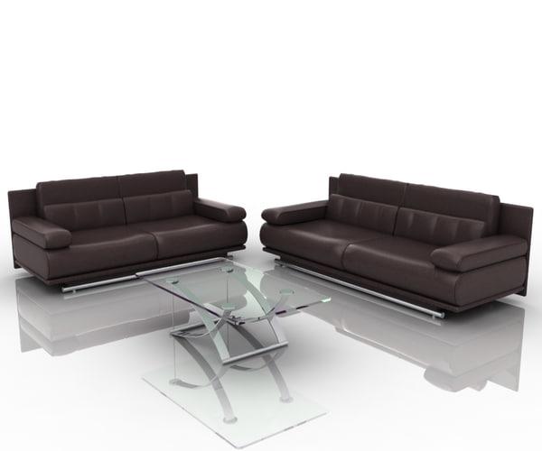 3d model group sofa 6500