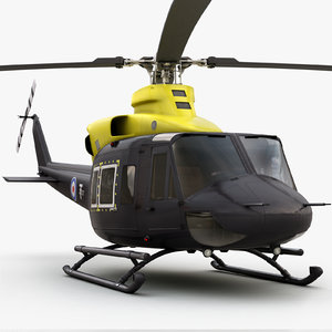 3d eurocopter bell 412 military helicopter
