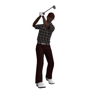 3d model rigged golfer