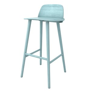 muuto nerd bar stool 3d 3ds
