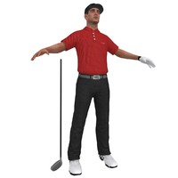 golfer player hat 3d model