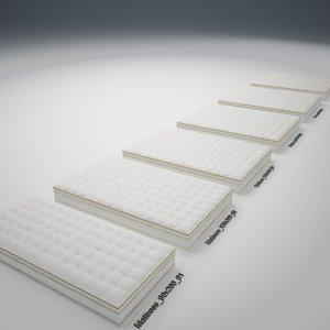 mattress v-ray object 3d max