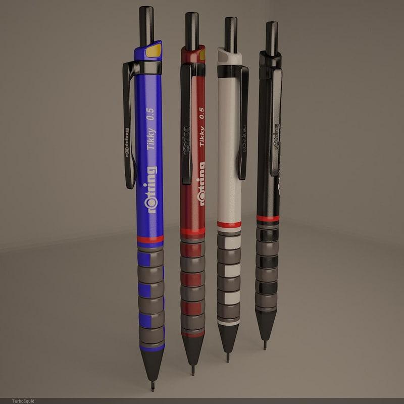 3d rotring renders v-ray model