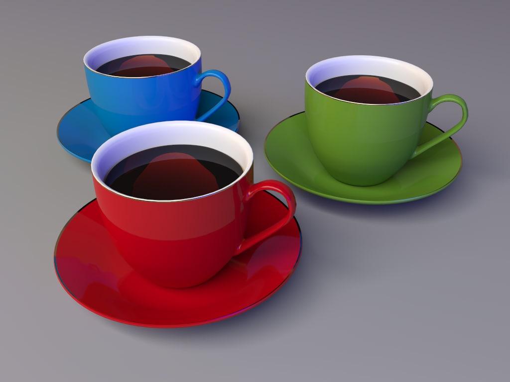 3d model ceramic cup coffee
