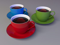 3d model ceramic cup coffee