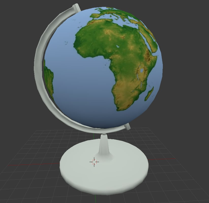 world globe obj