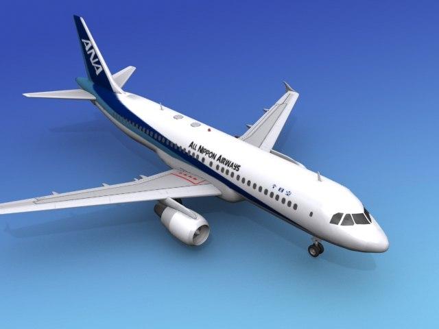 airline airbus 3d max