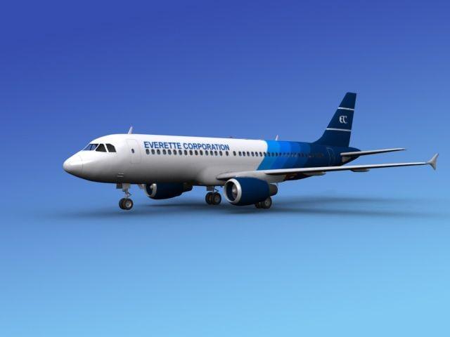 3ds max airline airbus