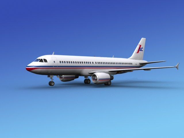 airline airbus 3d 3ds