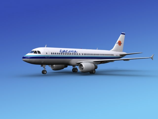 3d 3ds airline airbus