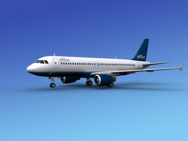 airline airbus jets 3d model