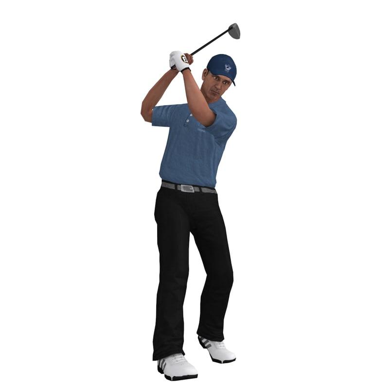 rigged golfer 3 3d max