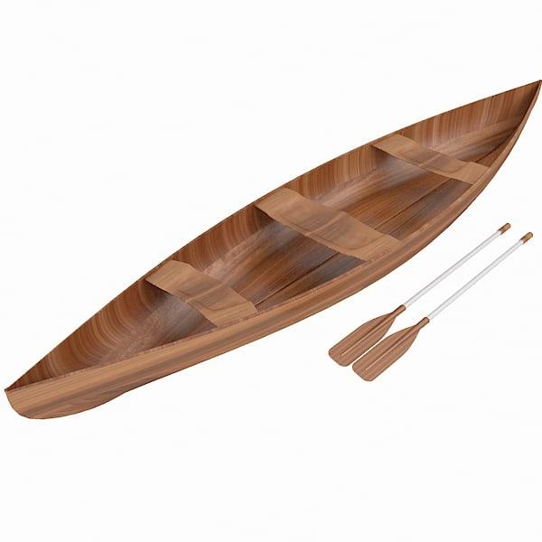 boat canoe 3d max