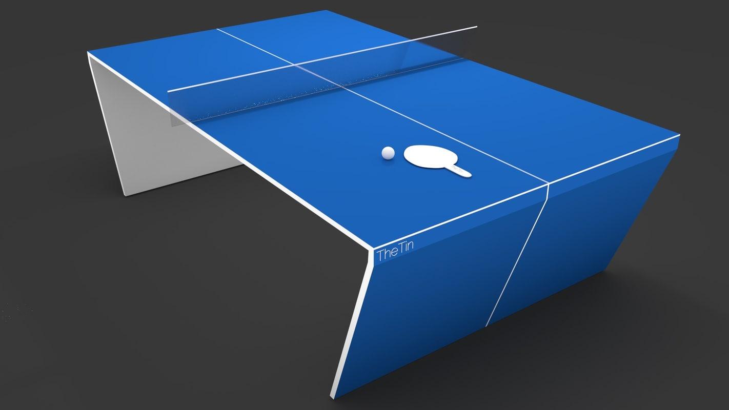 3ds modern futuristic table tennis