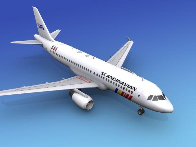 airline airbus sas 3d model
