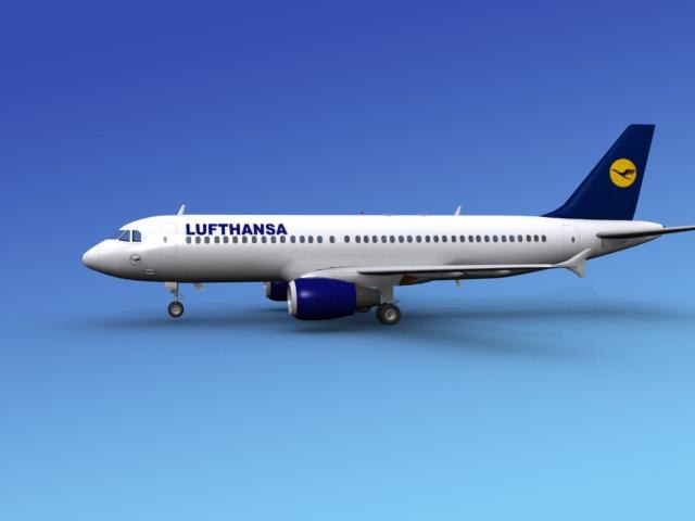 3d airline airbus model