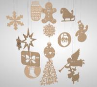 christmas mobile c4d