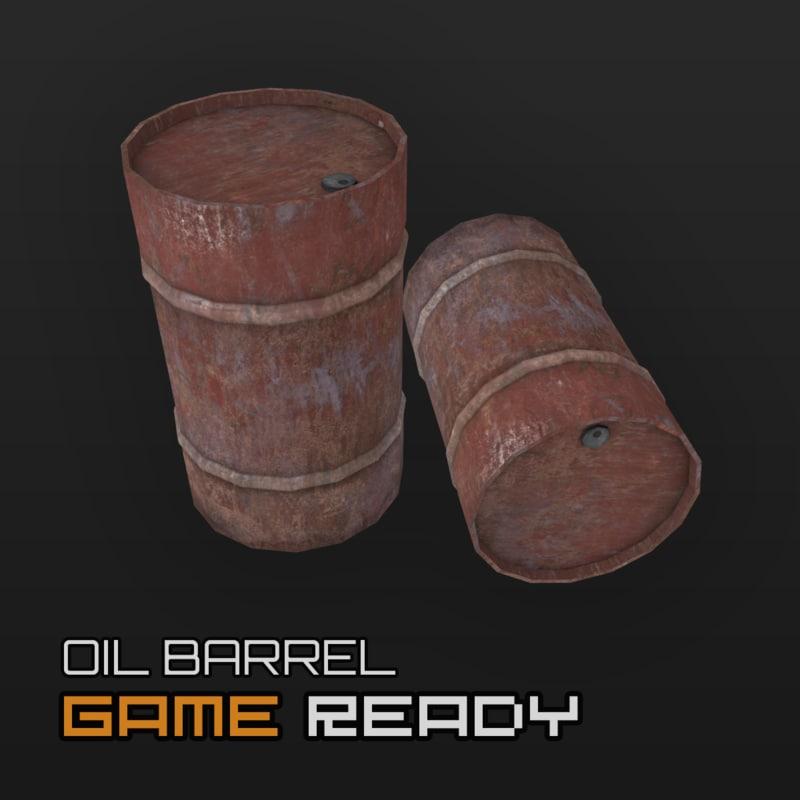 3d model ready barrel