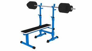 weightlifting bench 3d max