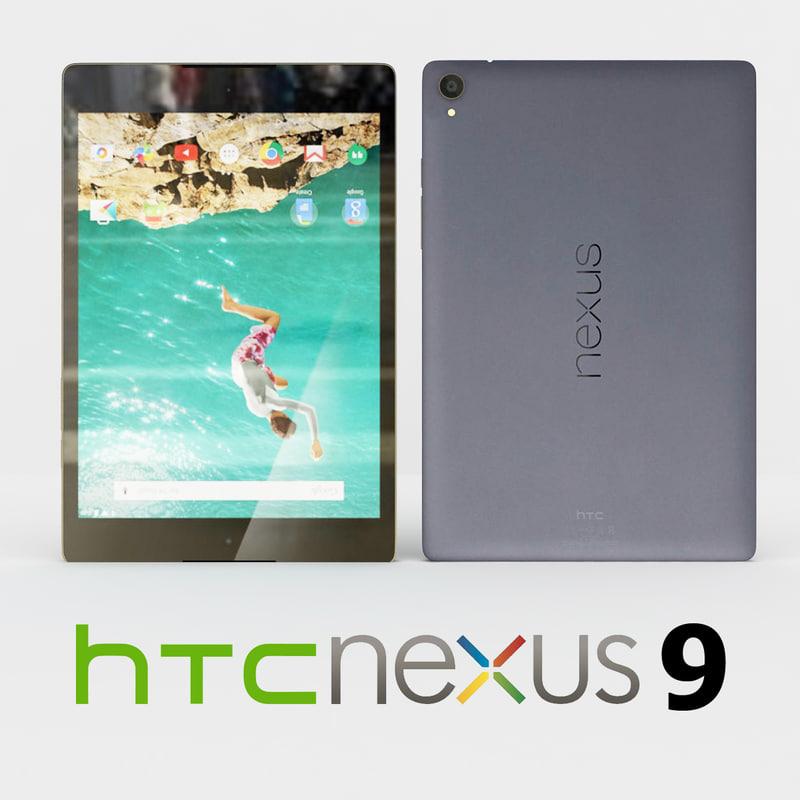 3d htc nexus 9 black model