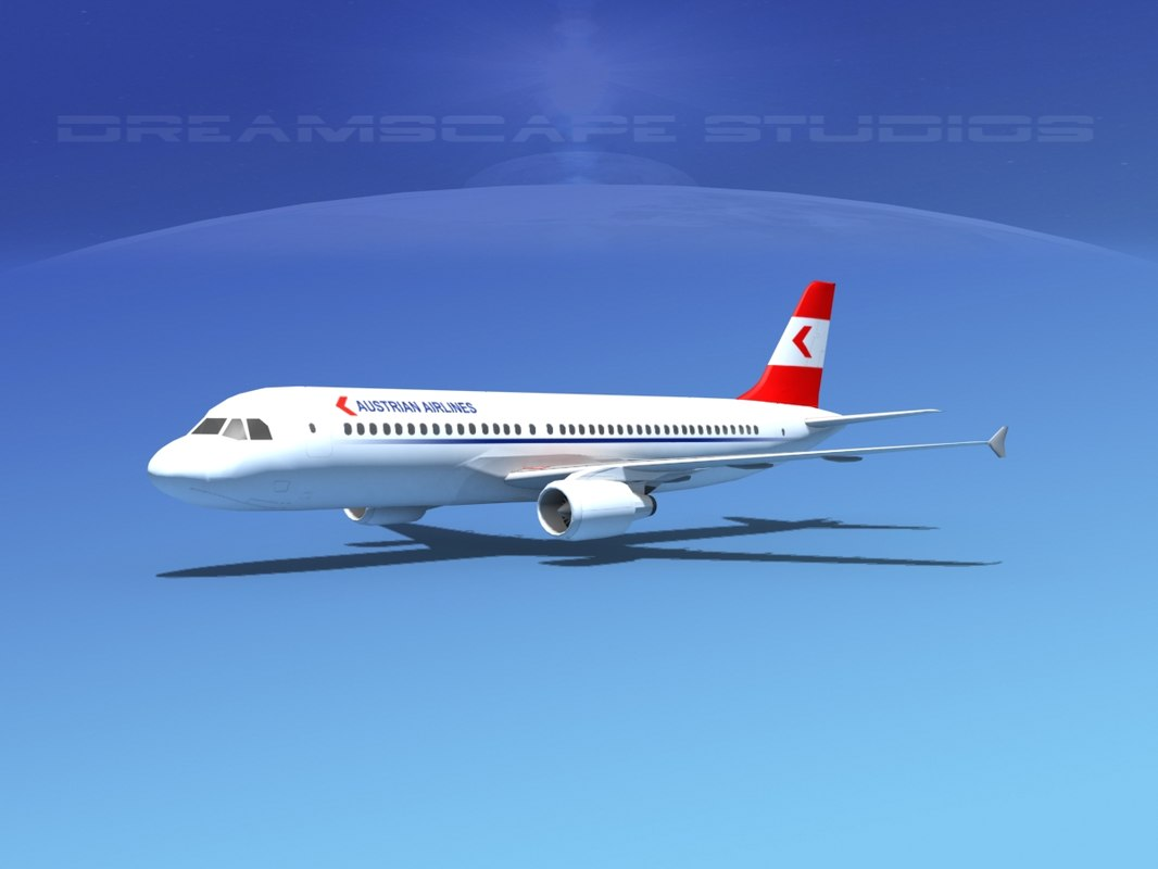 a320 airbus airliners 3d max