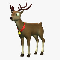cartoon reindeer 3d max