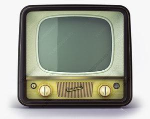 vintage tv start- d model