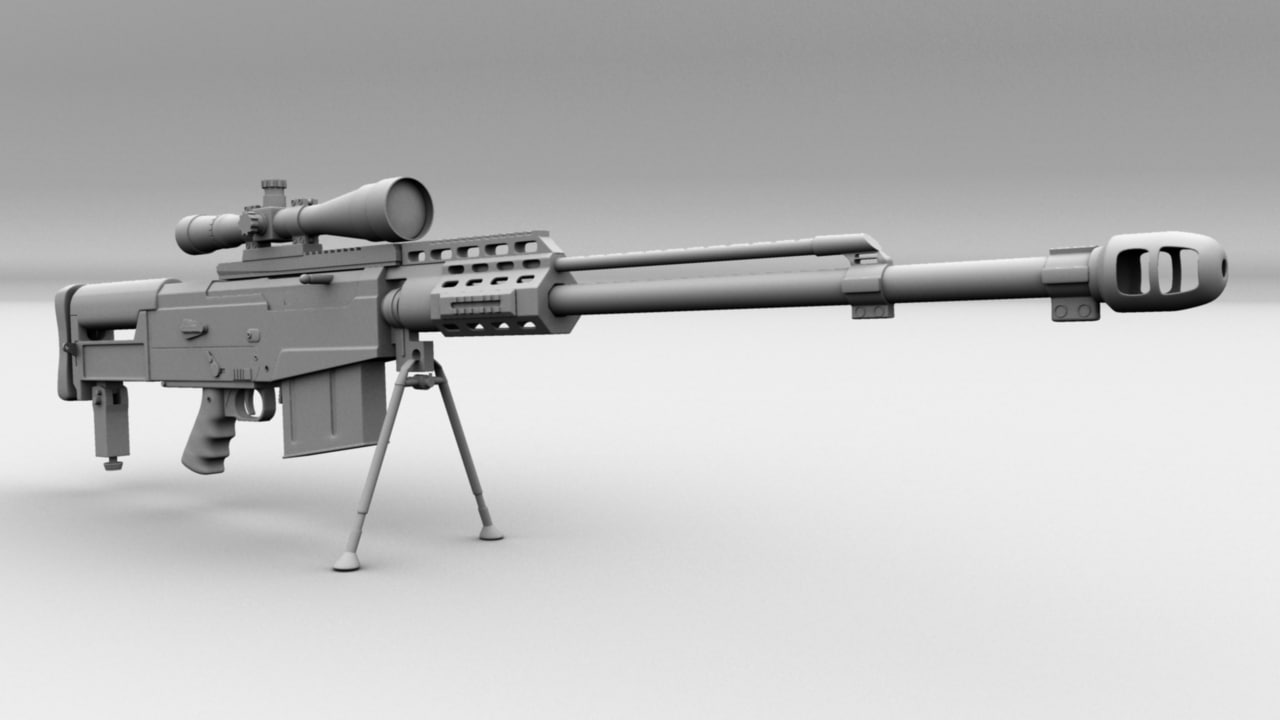 as50 sniper rifle 3d model