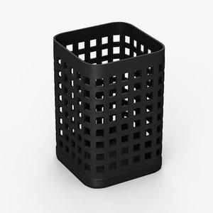 3d model pencil bin