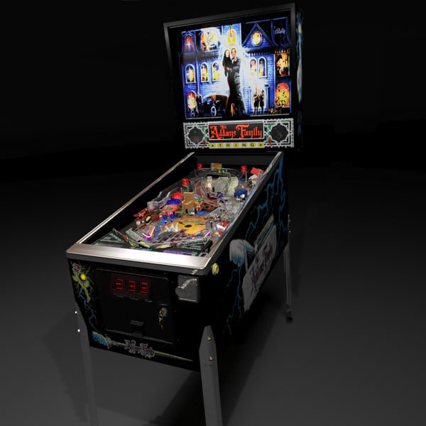 pinball machine 3d max