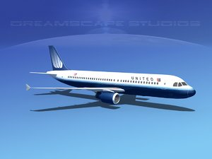 a320 airbus airliners 3d ma