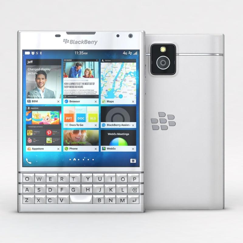 blackberry passport white c4d