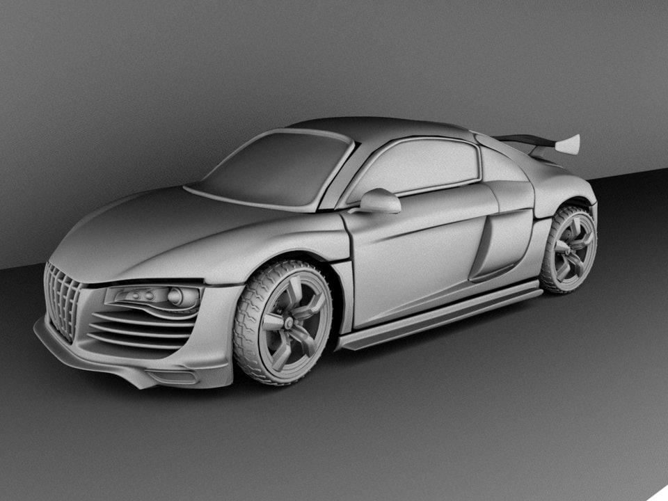 3d model r8 customized