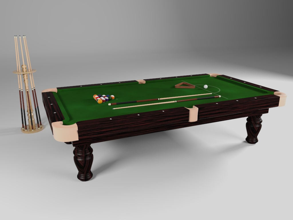 billiards table obj