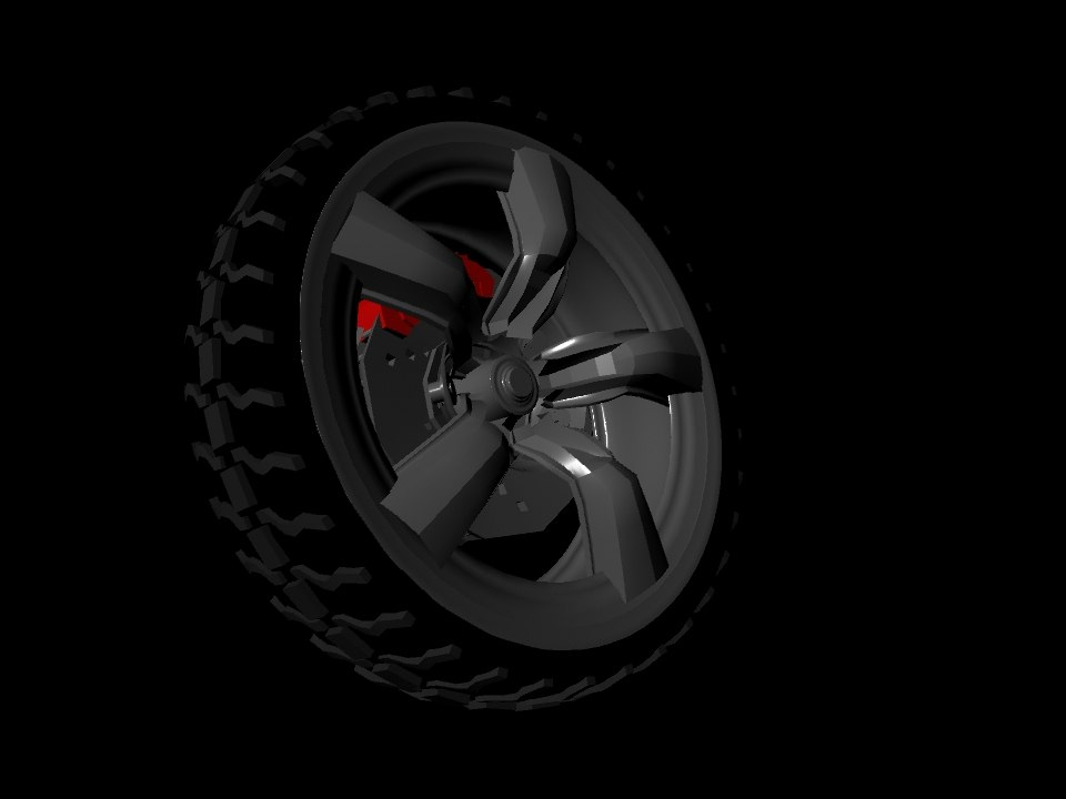 rims n tires 3d obj