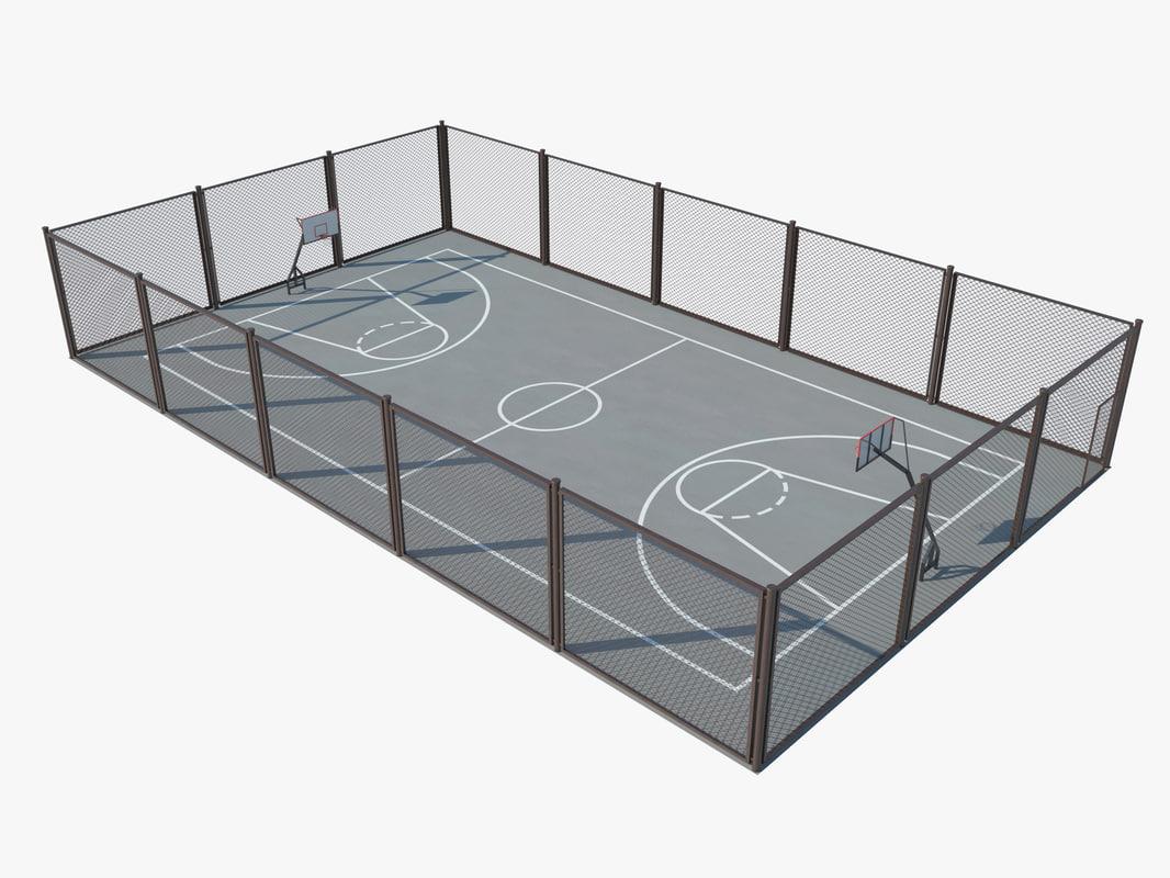 3d 3ds basketball court