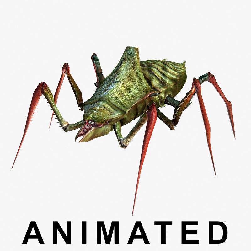 3d monster animations model