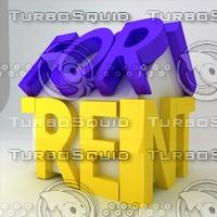 icon rent 3d max