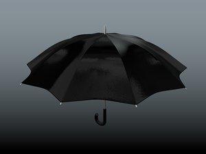 black umbrella obj