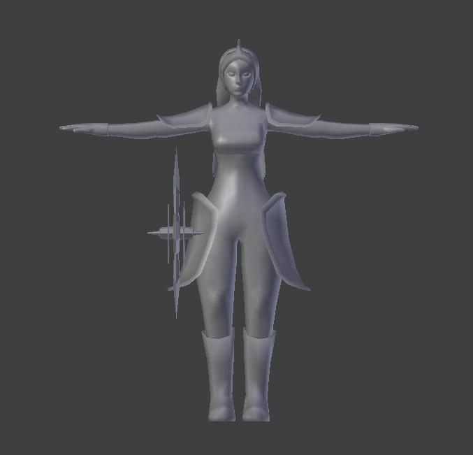 warrior womam rig ik 3d model
