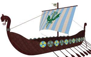 viking ship obj