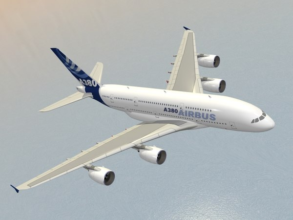 3d model airbus a380-800 house colors