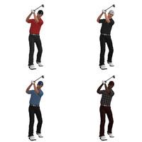 rigged golfer 3d max