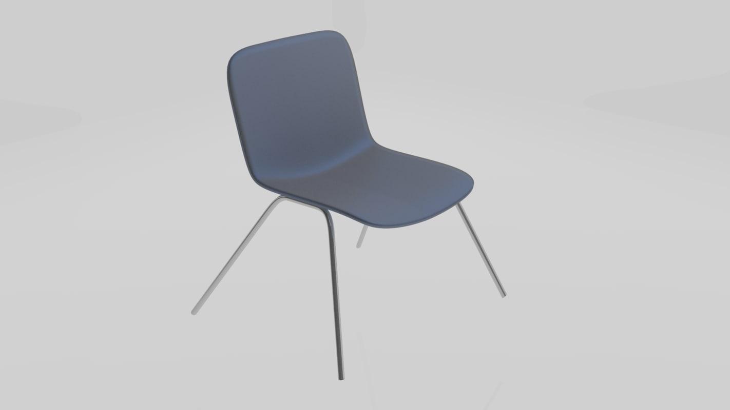 blender cycles rendered modern chair 3d model